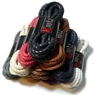 Twisted Waxed Rope Laces - 100% Premium Cotton - Smart Round Shoelaces Boot UK