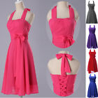 Sexy Womens Halter Bridesmaid Guest Party Evening Cocktail Short Prom Dress 6-20