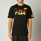 Fox Racing Mens Black Team Fox Short Sleeve T-Shirt Tee 2015 Fall Casual