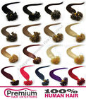 "25 Strands Pre Bonded 20"" Remy 100% Human Hair Extensions, Nail U Tip 0.5g"