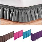 Elastic Bed Skirt Dust Ruffle Easy Fit Black Queen King Full Twin OTHER COLORS + image