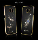 KINGXBAR Dragonfly Swarovski Crystsal Phone Case For Samsung Galaxy S6 Edge +