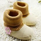 Toddler baby girls khaki soft-soled snow shoes size 0-6  6-12 12-18 month