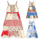 Girls Patchwork Floral Sun Dress Kids Cotton Summer Dresses New Age 3-10 Years
