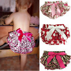 Baby Ruffle Bloomers Layers Baby Diaper Cover Flower Shorts  Skirts 0-24M