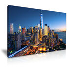 NEW YORK Manhattan Skyline Canvas Wall Art Picture Print ~ More Size