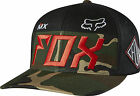 Fox Racing Mens Camo Exhaust Flex-Fit Hat Cap 2015 Fall Casual
