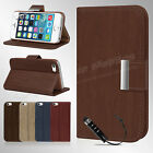 New Flip Wallet Leather Case Cover For Apple iPhone 5G 5S Free Screen Protector