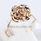Fashion Flower Ring 18KGP Size 5.5-9