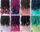 10 Colors One Piece Colorful Curly Hair Extensions Two-Tone Color 5 Clip