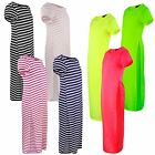 GIRLS CASUAL TOP SIDE HIGH SLITS TEE LONG MAXI DRESS T-SHIRT SPLIT 3-14 YEARS