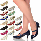 WOMENS LADIES LOW MEDIUM HEEL MARY JANE SMART WORK COURT SHOES PARTY PUMPS SIZE