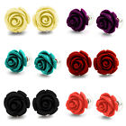 PAIR Body Jewelry Acrylic Delicate Rose Fashion Earring Studs