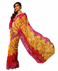 Triveni fancy Cute Yellow Colored Printed Faux Georgette Saree