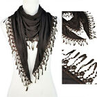 6 Colors Available Women Fashion Lace Triangle Beads Charm Scarf NL-1891