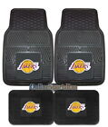 Los Angeles Lakers Car Truck Mats 2-PC or 4-PC Heavy Duty Vinyl