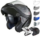 Black Optimus SV Flip Up Front Motorcycle Helmet Inner Sunvisor Tinted Visor Kit