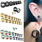 Stainless Steel Punk HS Ear Plugs Hollow Expander Stretcher OU Tunnels Piercing