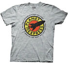 Futurama Planet Express Logo Distressed Licensed Adult T-Shirt - Grey