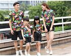 Summer Family sets woman girl man Boy outfits camouflage t shirt+ pants 1sets