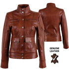 Aviatrix Ladies Womens Genuine Leather New Military Jacket Timber Look #S7