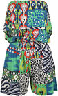 New Womens Layer Aztec Animal Print Off Shoulder Shorts Ladies Playsuit 8-14