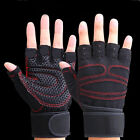 Weight Lifting Gym Gloves Workout Wrist Wrap Sports Exercise Training Fitness