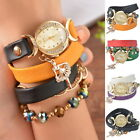 1PC NEW Women Leather Diamante Ballet Dancer Wrist Watch Adjustable Gift Gift