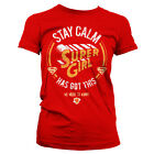 Supergirl - T-Shirt Stay Calm she Has got this - Femme - Licence officielle
