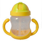 Cute Colorful Baby Kid Child Feeding Drinking Straw Bottle Sippy Cup Nuby Dishes