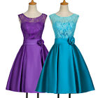 LACE 50s Vintage Mother of Bride Bridesmaid Prom Party Evening Gown Tea Dresses