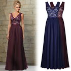 Women's Vintage Bridesmaid Evening Dress Gown Party Prom Long Lace Maxi Dresses