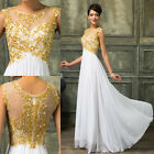 New Chiffon Long Lace Wedding Evening Party Ball Gown Prom Bridesmaid Dress 6-20