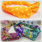 Lady Chic  Women Yoga Elastic Turban Floral Twisted Knotted Hair Band Headband