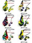g811m22 Multicolor Lampwork Glass Murano Leaf Bead Necklace Pendant Earrings Set