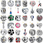 European Charms Flower Clip Beads Fit 925 Sterling Silver Necklaces Bracelets