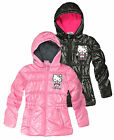 Girls Hello Kitty Puffa Jacket New Kids Winter Hooded Padded Coats Ages 3-8 Yrs