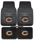 Chicago Bears Car Mats 4 Piece Front and Rear Heavy Duty Vinyl