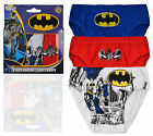 Boys Official DC Comic Cartoon Batman Briefs New Kids Underwear 3 Pack Pants