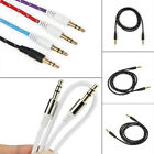 Hot Car Aux Auxiliary Cord Stereo Audio Cable 3.5mm Male to Male 4 Color Pick