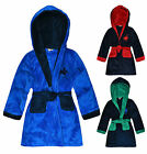 Boys Polo Pony Hooded Dressing Gown New Kids Soft Bath Robe Ages 2-6 Years