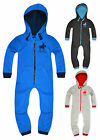 Boys Hooded Onesie New Kids Full Length Jumpsuit Zip Fastening Age 2-13 Years