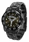 Texas Longhorns Watch Fantom Gunmetal Finish Ladies or Mens Black Dial