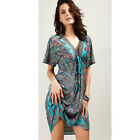 Women Ladies Sexy Sundress Summer Dress V Neck Beach  Large Size Boho Style