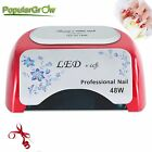 PopularGrow CCFL& LED 48W  Nail Cure Lamp UV Gel Dryer Light Timer Gel Polish