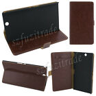 Leather Wallet Stand Case+LCD Guard Film For Sony Xperia Z Ultra/ZU C6802 XL39h