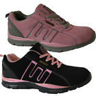 LADIES GROUNDWORK STEEL TOE CAP SAFETY WOMENS TRAINER WORK LACE UP LEATHER SHOES