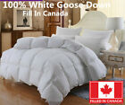 100% Cotton White Goose Down Duvet Comforter Canadian Standard Fill In Canada