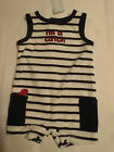 GYMBOREE Baby Boys 3-6 Month Navy Stripe Pelican Catch Sleeveless Outfit NWT