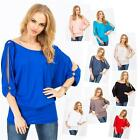 Longshirt 3/4 Sleeve Blouse with Bat sleeves Tank Top 9 Colours, 8552